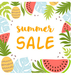 Summer sale template summer background with vector