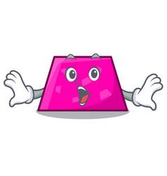 Surprised trapezoid mascot cartoon style vector