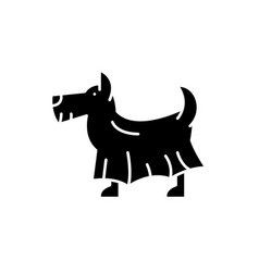 terrier black icon sign on isolated vector image