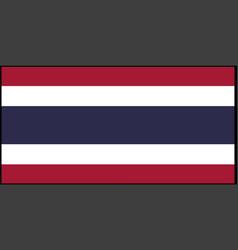 Thailand flag isolated on back vector