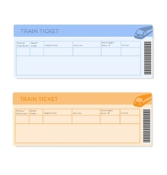 Train Tickets in Two Versions vector image