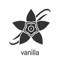 Vanilla flower glyph icon vector