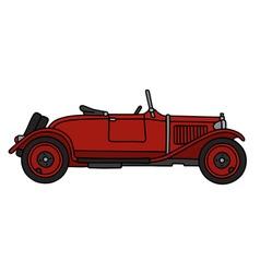 Vintage red roadster vector