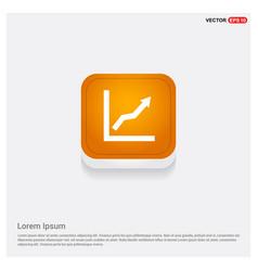 webarrow expand icon orange abstract web button vector image