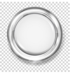 White plastic button vector