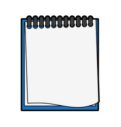 wired notepad icon image vector image