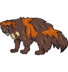 Wolverine animal cartoon vector