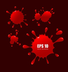 Abstract red blood drops vector image vector image