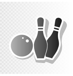 bowling sign new year vector image vector image