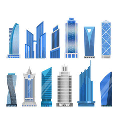 buildings skyscrapers in a flat style vector image vector image