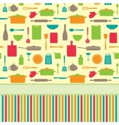 Cute colorful menu template vector