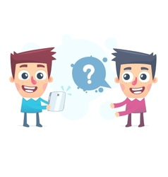 Easy way to find an answer on the Internet vector image