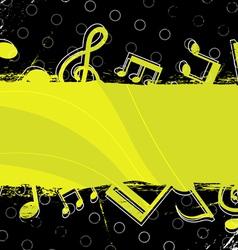 music grunge artwork design vector image vector image