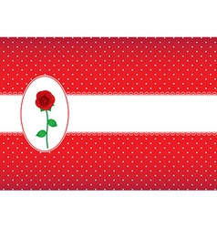 Polka dot card with rose vector image