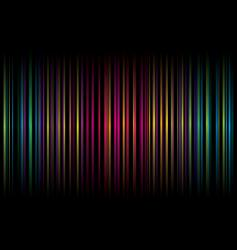 rainbow stripe graphic design vector image vector image