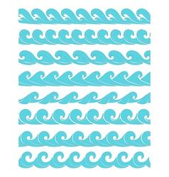 set vektor seamless waves vector image vector image