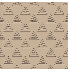 triangle brown seamless pattern vector image vector image