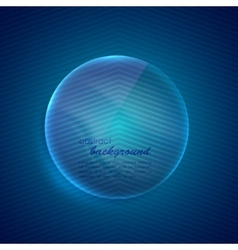 abstract blue background with glass transparent vector image
