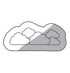 figure cloud sticker icon vector image