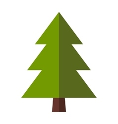 Fir-tree flat icon vector image vector image