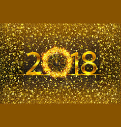 happy new year 2017 with gold vector image vector image
