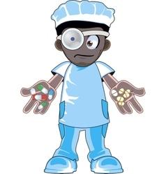 African american doctor vector image vector image