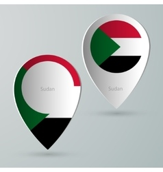 paper of map marker for maps sudan vector image