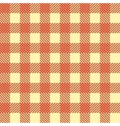 Seamless Vintage Square Pattern Red Geometric vector image vector image