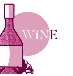 wine bottle round icon vector image vector image