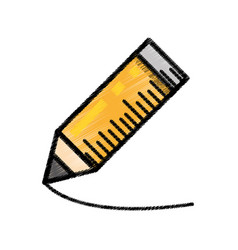 wooden pencil writing sketch vector image