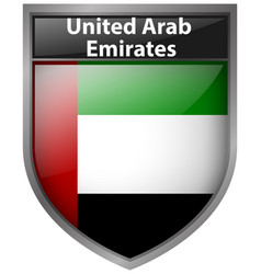 badge design for flag of united arab emirates vector image vector image