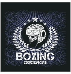 Boxing Champion - Vintage artwork for t vector image