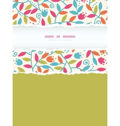 Colorful Branches Vertical Torn Frame Seamless vector image vector image