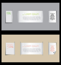 Paper bookmarks with place for text vector image