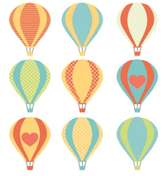 Set if colorful hot air balloons vector image vector image