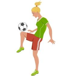 Soccer girl vector image vector image