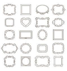 Vintage hand drawn frames for greetings and vector image vector image