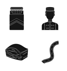 A pack of cigarettes staff and other web icon in vector