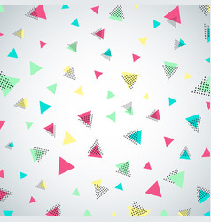 Abstract colorful repeating confetti triangle vector