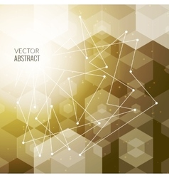Abstract polygonal space hexagonal background with vector image