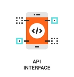 api interface icon vector image