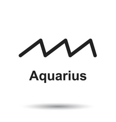 Aquarius zodiac sign flat astrology on white vector