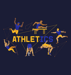 athlete man banner poster brochure vector image