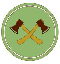 ax icon axe symbol vector image