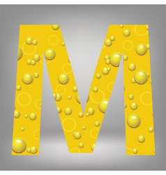 beer letter M vector image