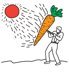 Benefit of carrot is to help protect the skin vector