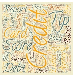 Better Credit Scores Tips text background vector image vector image
