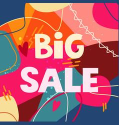 big sale - great handdrawn lettering vector image