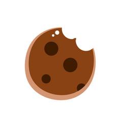 Bitted biscuit dessert chocolate sweet vector