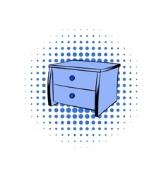 Blue chest comics icon vector image
